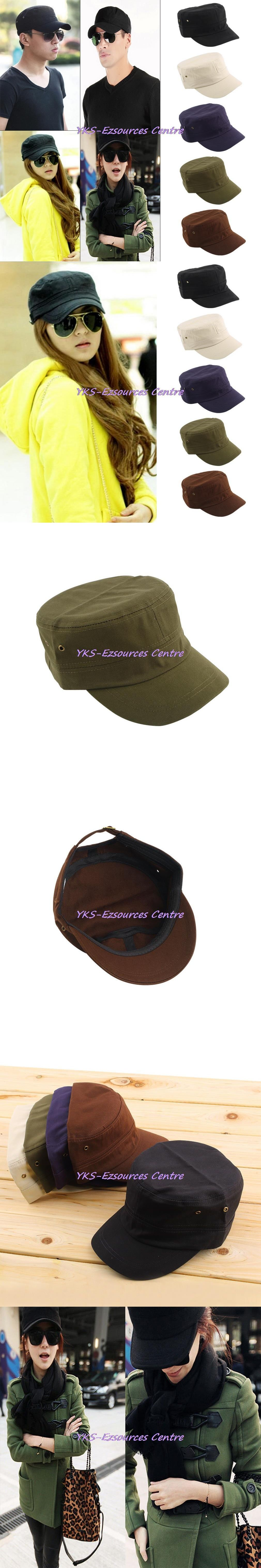 6669e43f23c 2017 Men Women Casual Baseball Cap Classic Hat Preppy Style Adjustable Army  Plain Vintage Hat Cadet