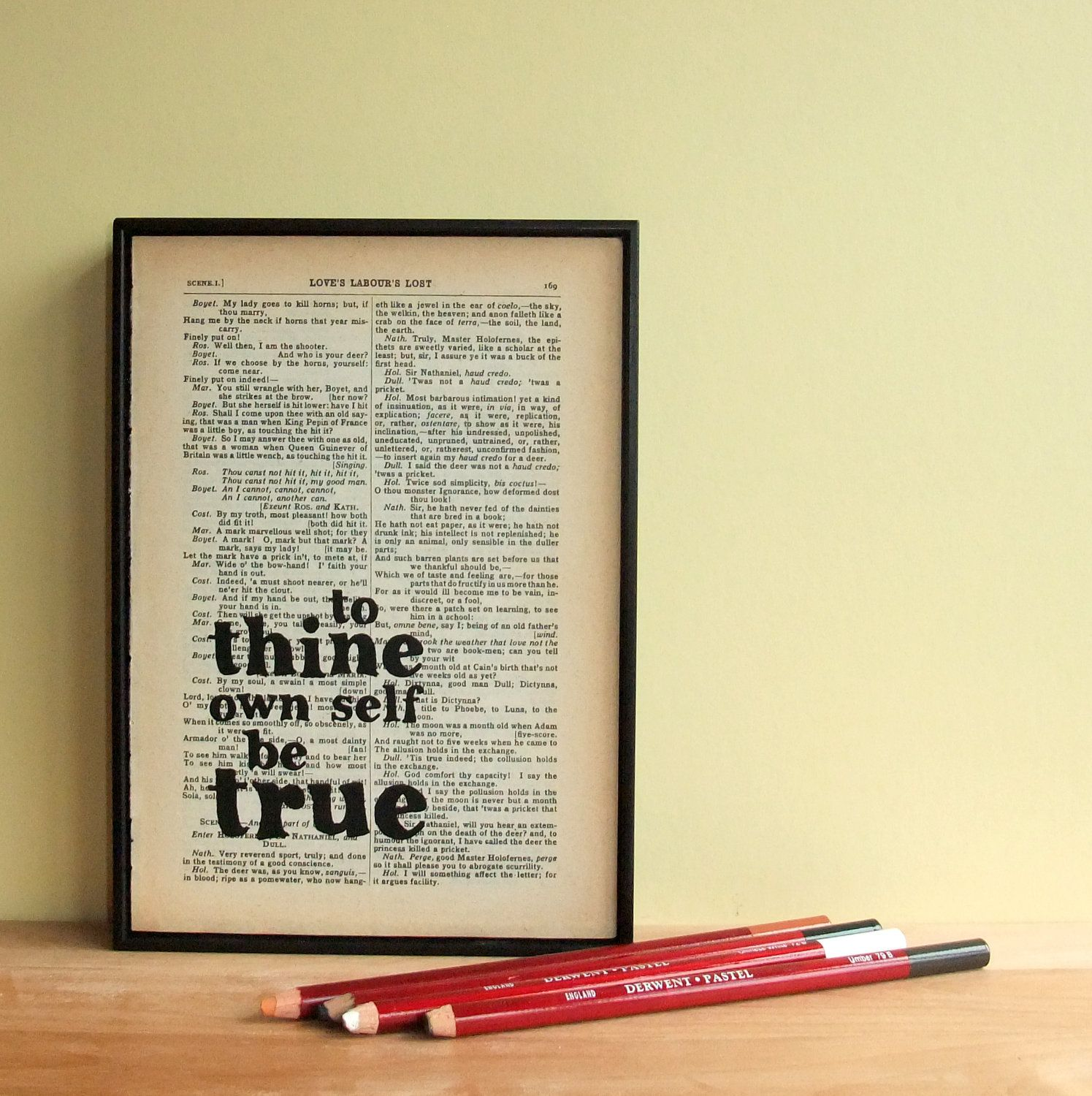 Shakespeare Quote - Book Lover Gift - Literary Gift - Inspirational ...