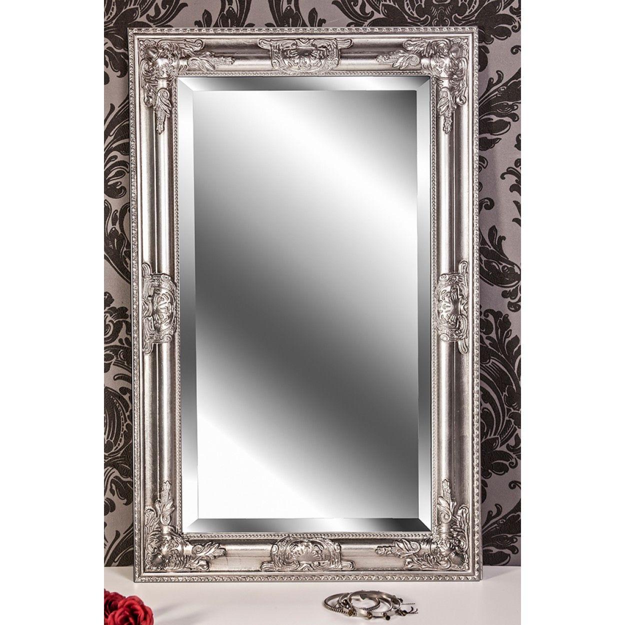 Wandspiegel Silber Antik Barock Kim 80 X 50 Cm Spiegel Spiegel