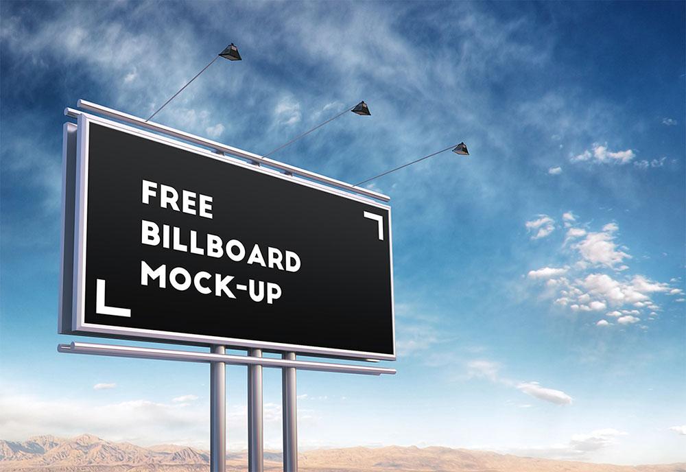 Free Psd Billboard Mockup Mockuptree Billboard Mockup Billboard Photoshop Mockup Free