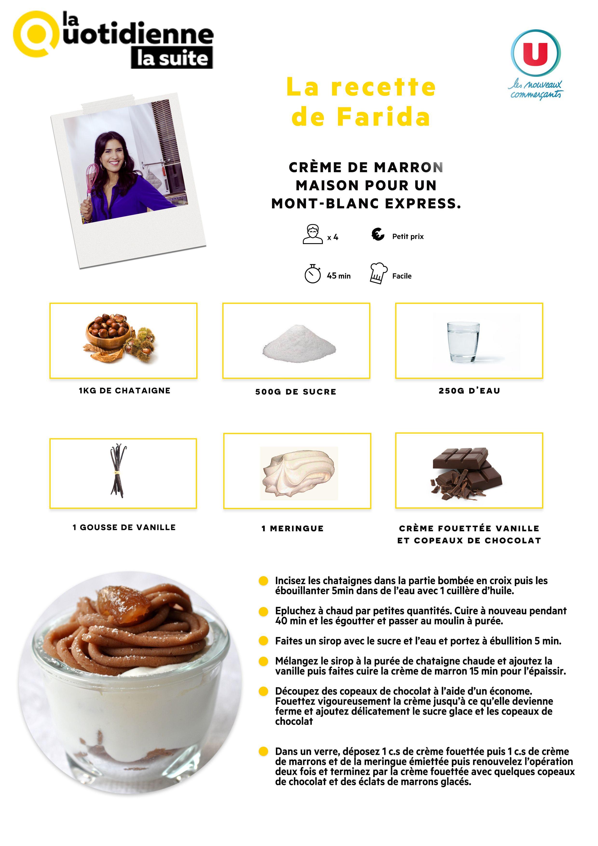 Retrouvez la recette de farida c 39 est au programme for Cuisine quotidienne