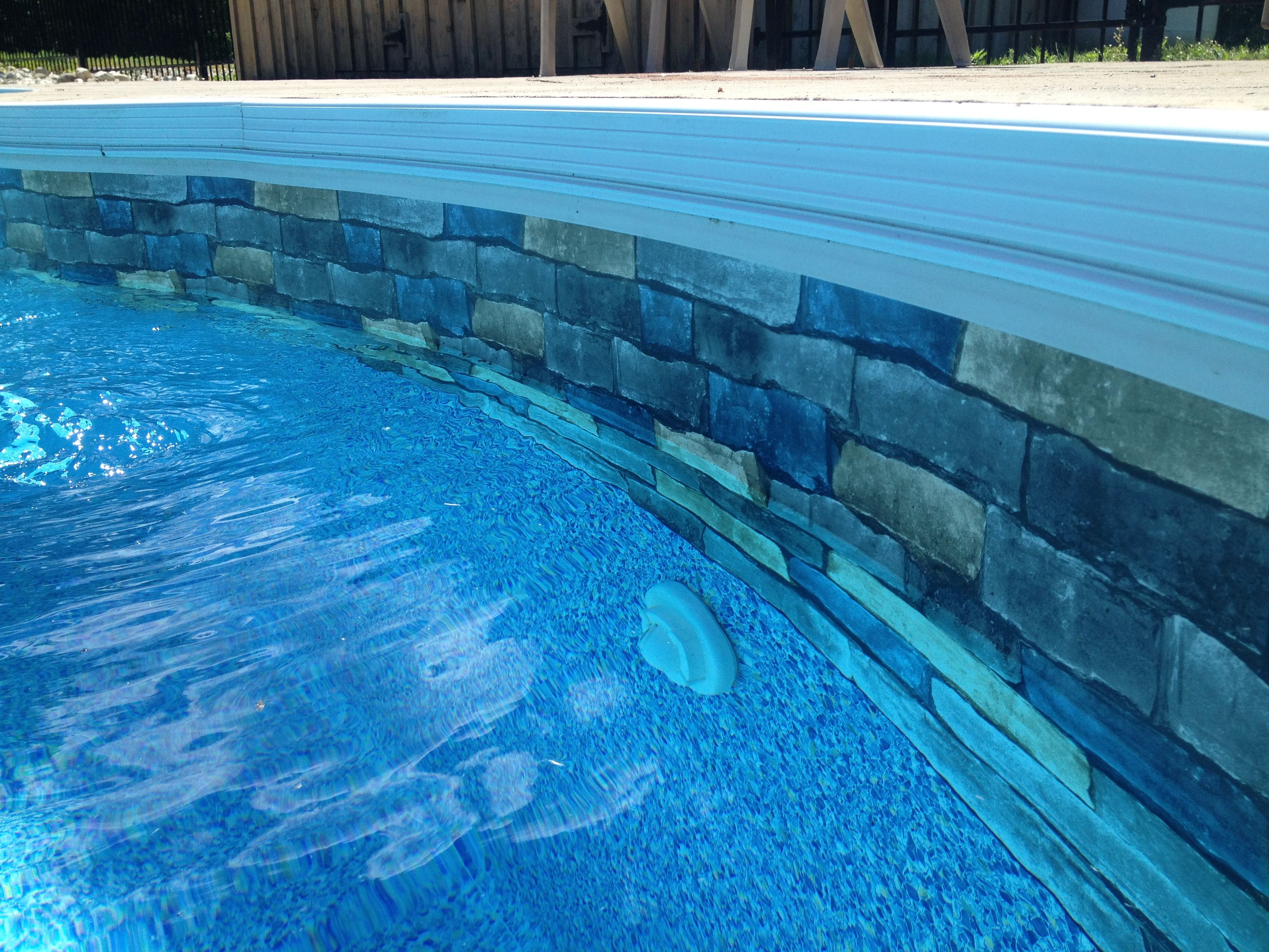 Brick pool liner pool liners pinterest pool liners for Swimming pool liners