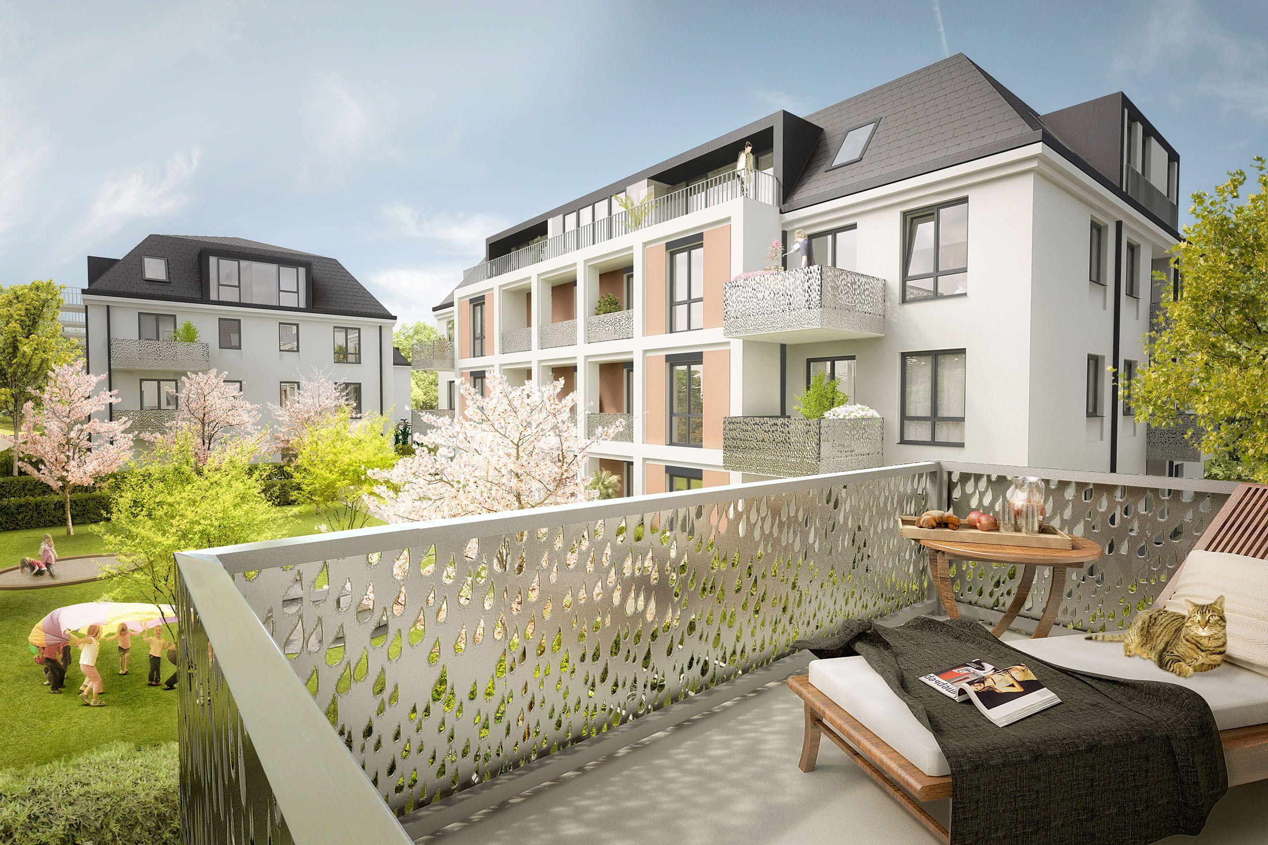 Architekturvisualisierung Berlin berlin spree balcony rooftop render manufaktur architektur