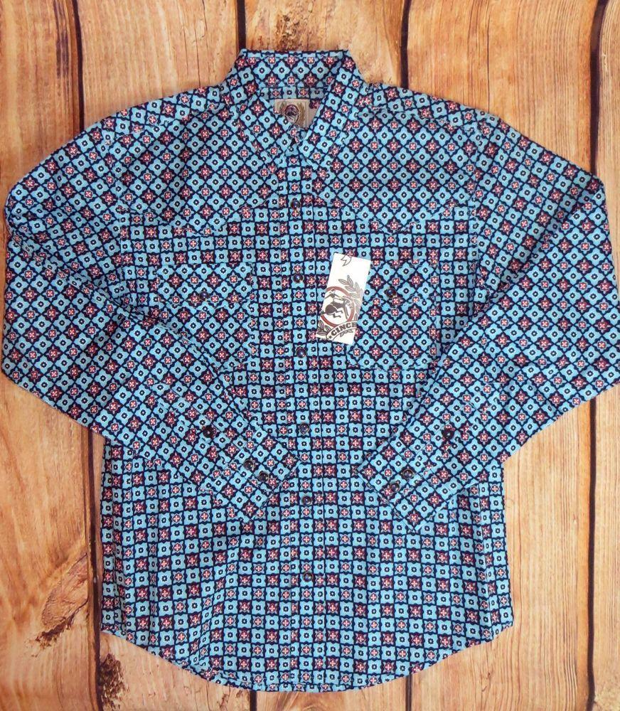 $17.99! free ship! last one! CINCH Jeans MTW7020030 Boys cowboy SHIRT Western SNAPS  NWT Youth MEDIUM 10 #CINCH #DressyEverydayHoliday