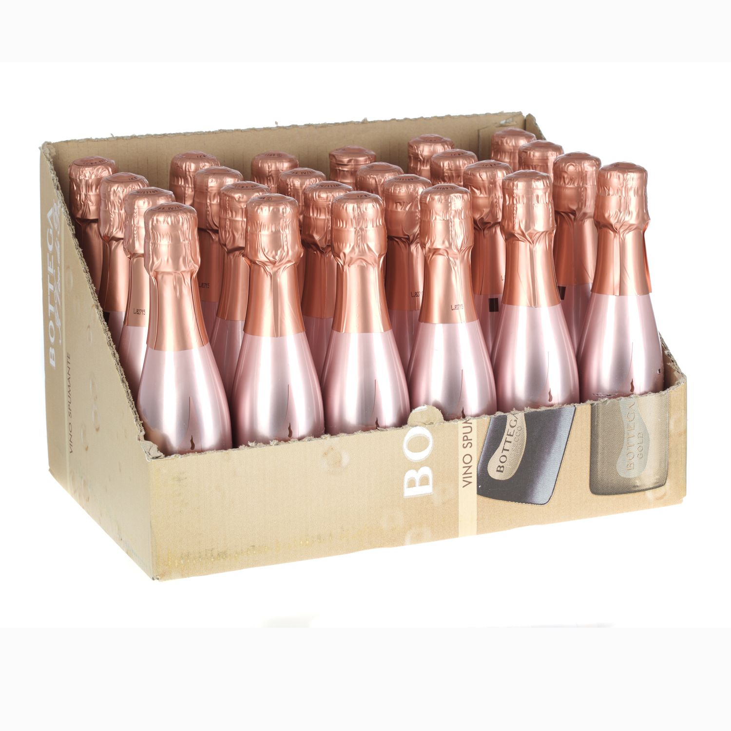 Rose gold wedding inspiration onewed rose gold ruffly wedding chair - Bottega Rose Gold Spumante Sparkling Wine Miniature 200ml 24 Pack