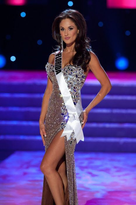 Miss Florida USA Lisette Garcia in her custom gown designed by Robin ...