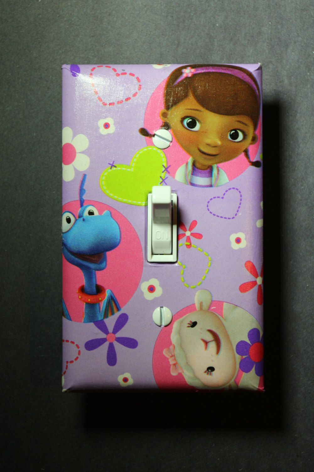 Doc McStuffins Light Switch Plate and Socket Cover set girls boys childs room home decor bedroom & Doc McStuffins Light Switch Plate and Socket Cover set girls boys ...