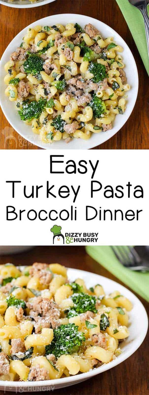 Photo of Easy Ground Turkey Pasta Broccoli Dinner