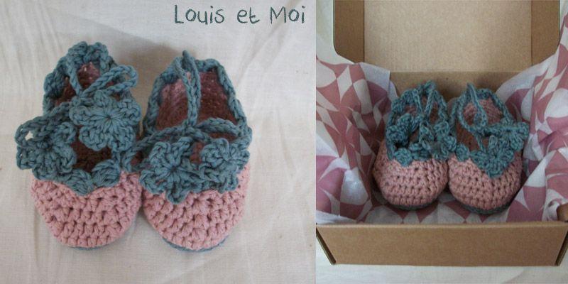 #crochet #babyshoes Louis et Moi (cosen y hacen crochet)