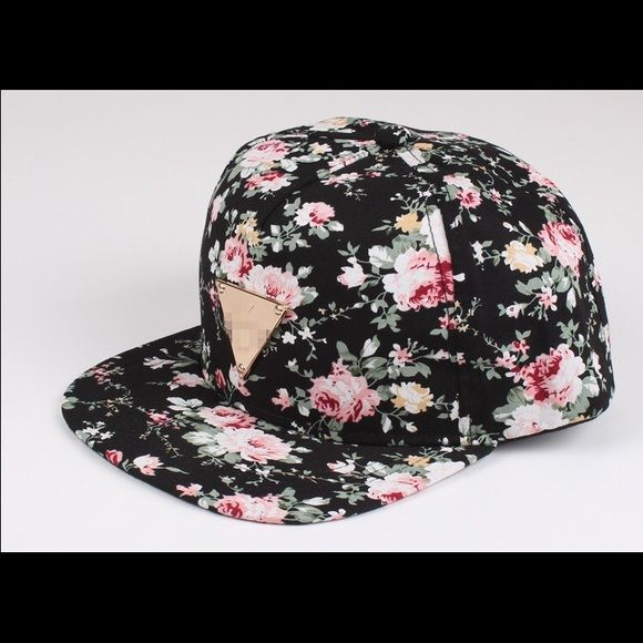 1b78fc38 Floral Hater SnapBack Cute And Floral SnapBack Hat. Black. Accessories Hats
