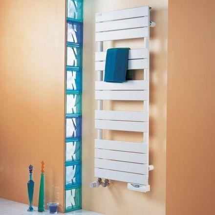 Radiateur sèche-serviettes extra plat blanc pour salle de bain - puissance seche serviette salle de bain