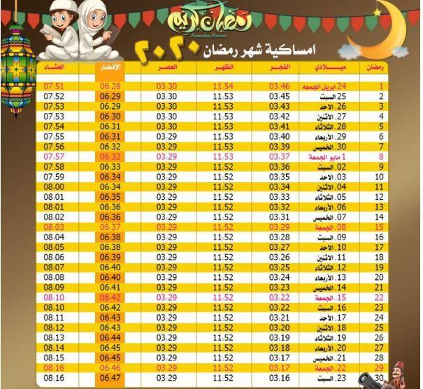 موعد الإفطارموعد أذان المغرب والفجر اليوم في مصر والسعودية والمغرب والدول العربية في أول أيام رمضان إمساكية شهر رمضان 1441 2020 موعد الإفطارموعد أذان المغرب و