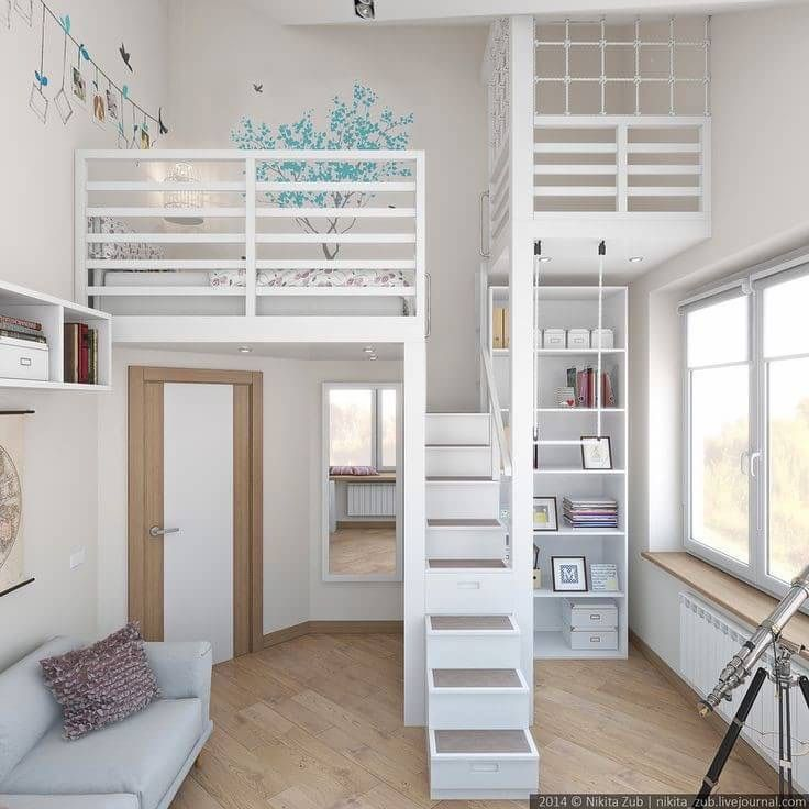 Guest Room and Kids Loft idea to
