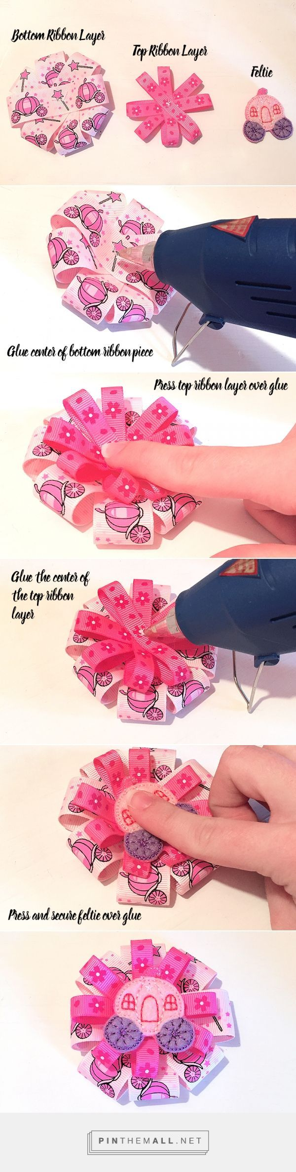 How to make a ribbon hair bow with a machine embroidered feltie how to make a ribbon hair bow with a machine embroidered feltie fast and easy diy cute bow crafting a grouped images picture baditri Image collections