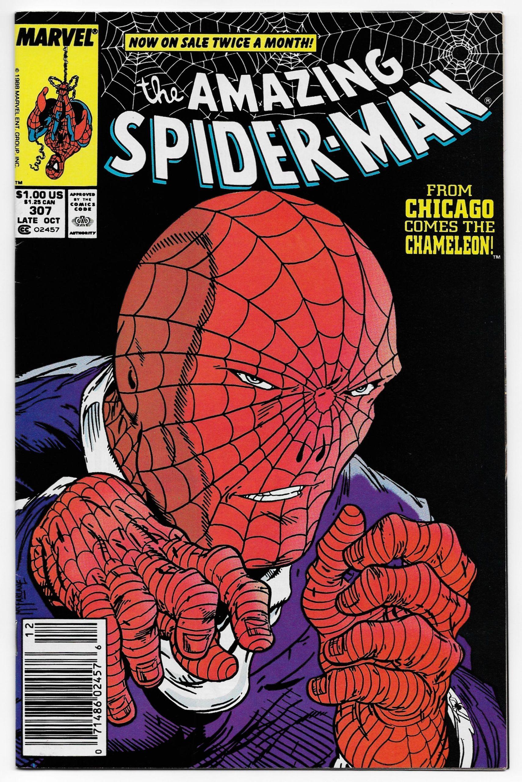 Amazing Spider Man 307 Todd Mcfarlane Art Marvel 1988 Vf Nm Spiderman Amazing Spider Todd Mcfarlane