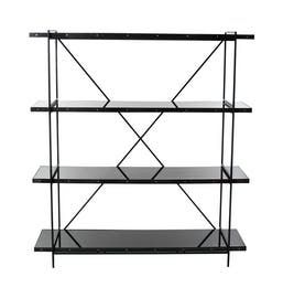 Obsidian Etagere  Contemporary, Glass, Metal, Bookcases  tagere by John Pomp