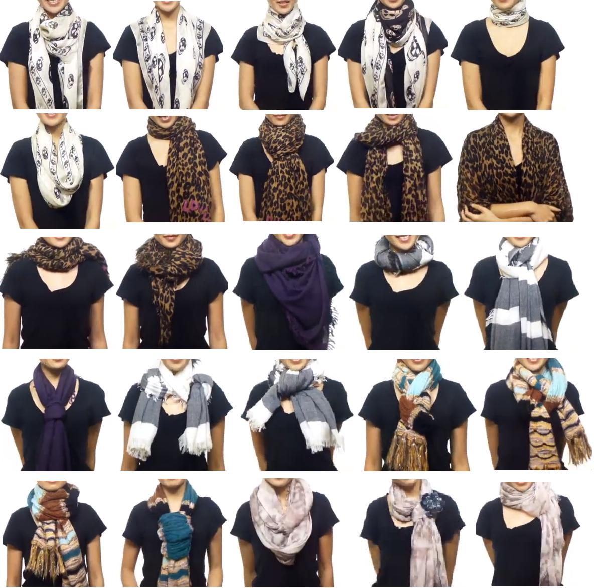 Les différentes façons de nouer un foulard pourquoicomment   Mode ... 21b87edb2a4