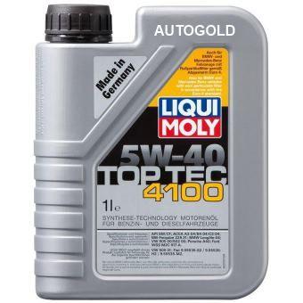Liqui Moly TOP TEC 5W-40: olio motore adatto per una vasta gamma di motori benzina e diesel. Compatibile con filtri antiparticolato.