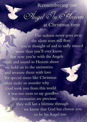 Christmas Sayings For Loved Ones In Heaven Life Inspiration Quotes An Angel In Heaven At