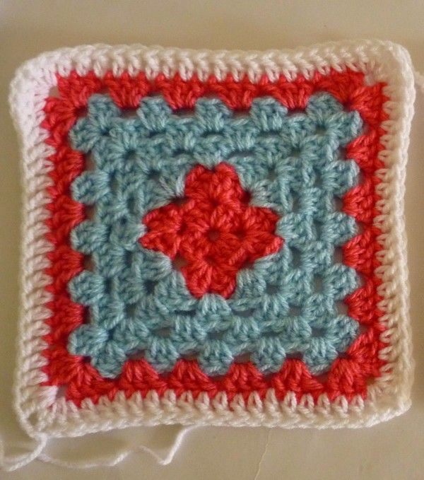 patrón de ganchillo cuadrados abuela | Crochet | Pinterest | Patrón ...