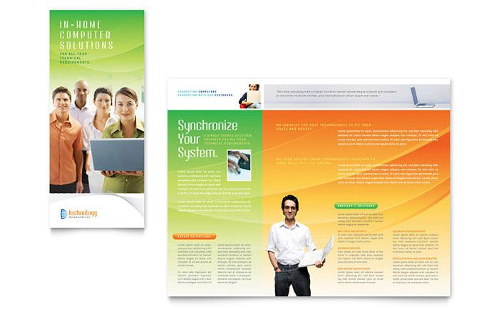 Computer And It Services Brochure Design Template By Stocklayouts