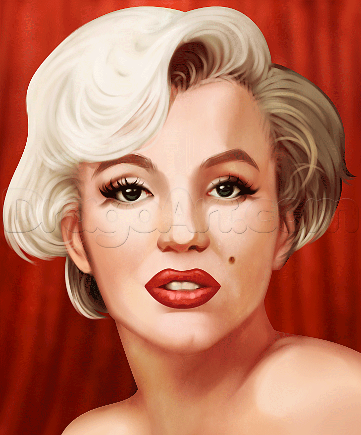 how to draw marilyn monroe easy step by step stars