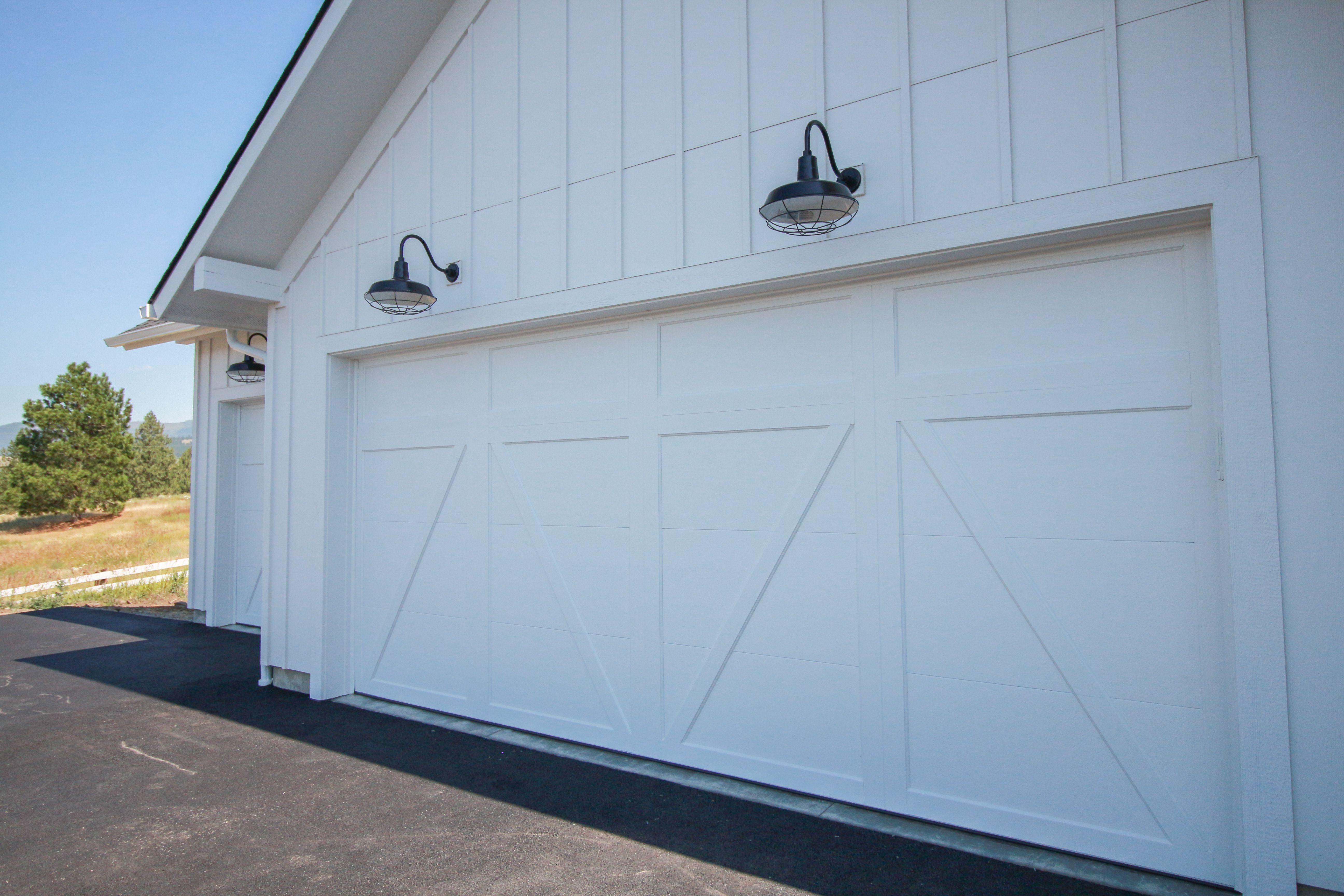 White Barn Door Garage Doors Farm Style Home Inspirations North