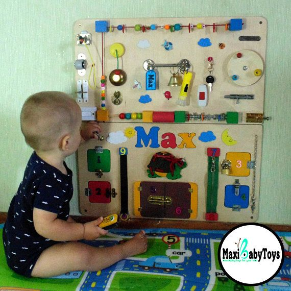 Personalized Busy Board Toddler Montessori toy Baby Sensory board busy baby toy Montessori Toddler Activity board 1st birthday gift baby