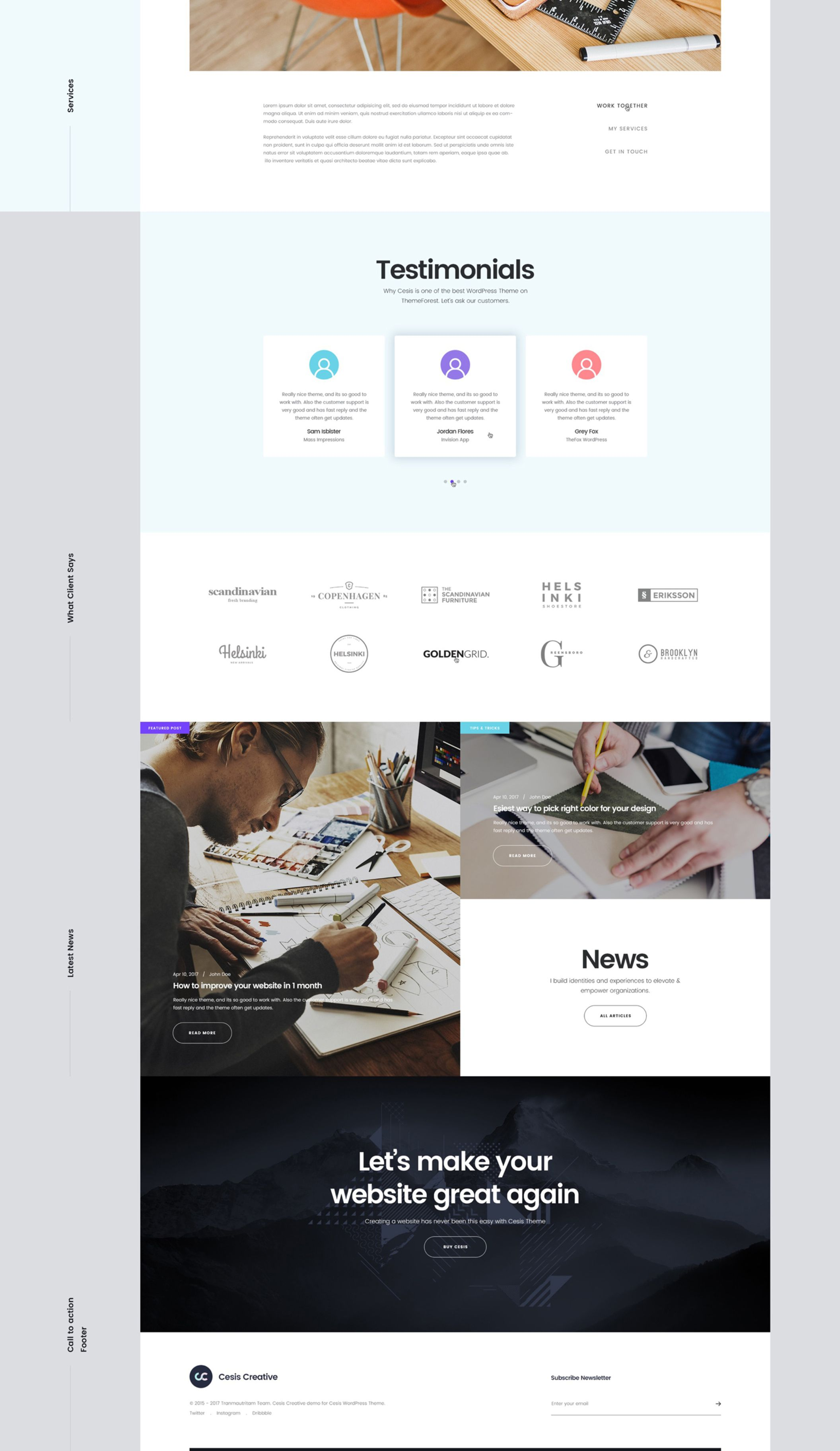Designed For Creative Website Of Agency Designer Freelancer Photographer Web Design Templates Template Site