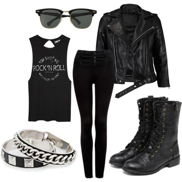 Punk rock style outfit inspired by bring the noise our for Rockabilly outfit damen