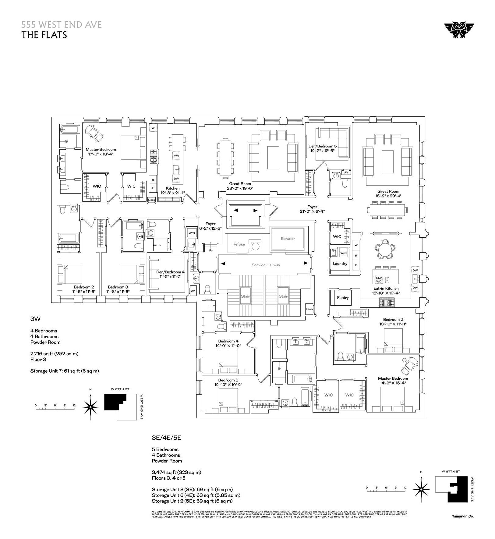 The Avenue By Executive Apartments: 555 West End Avenue The Flats