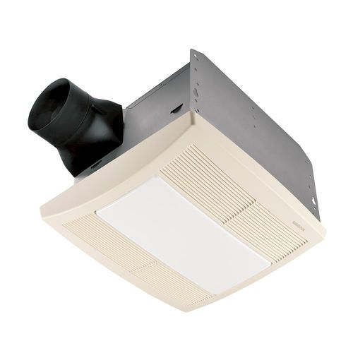 Broan R Qt80l Qt Series Very Quiet 80 Cfm 0 8 Sones Ceiling Fan Light Night Light Uses One A19 Bulb Or Energy Efficient Fan Light Bathroom Fan Light Broan
