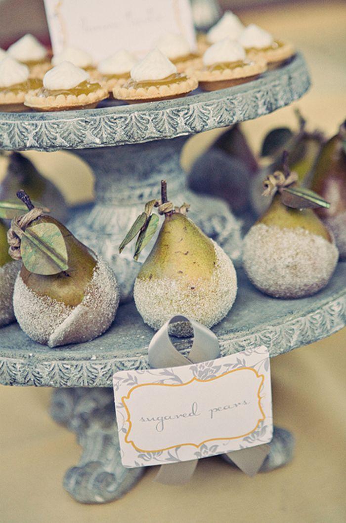 sugared pears