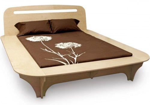 Wood Designer Bed Frame in Natural Atmosphere   http   www homenhome. Wood Designer Bed Frame in Natural Atmosphere   http   www