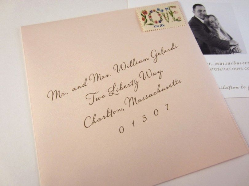 Wedding Invitation Labels