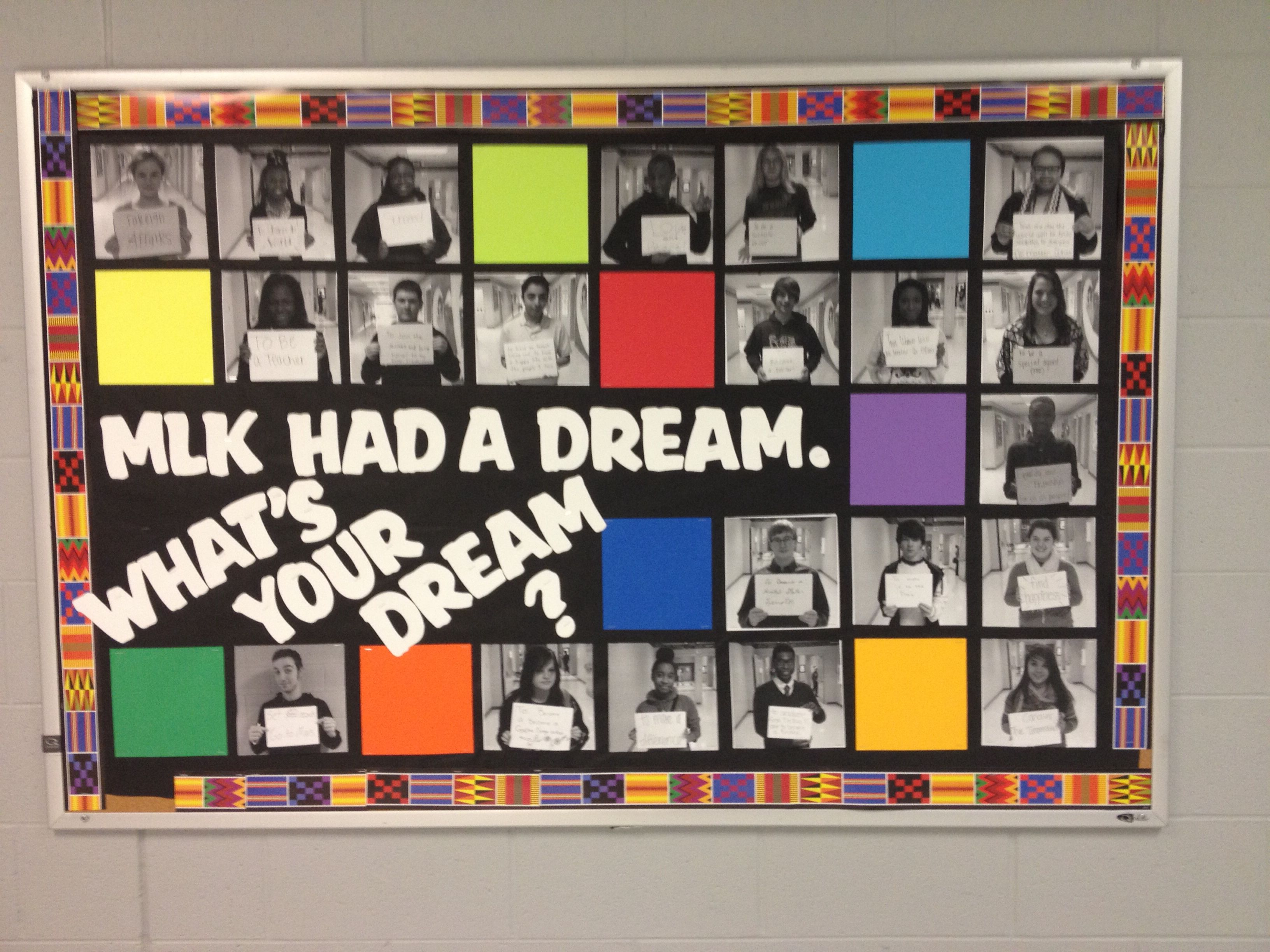 "k.g. black history month mlk ""i have a dream"" bulletin board. it is"