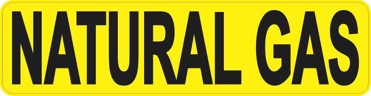 8in X 2in Pipe Marker Natural Gas Sticker Vinyl Label Decal Sign