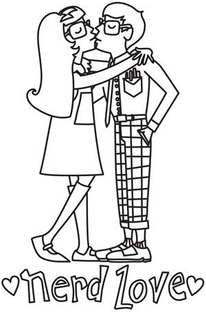Coloring Page World: Nerd Love   Free Printable Coloring Pages ...