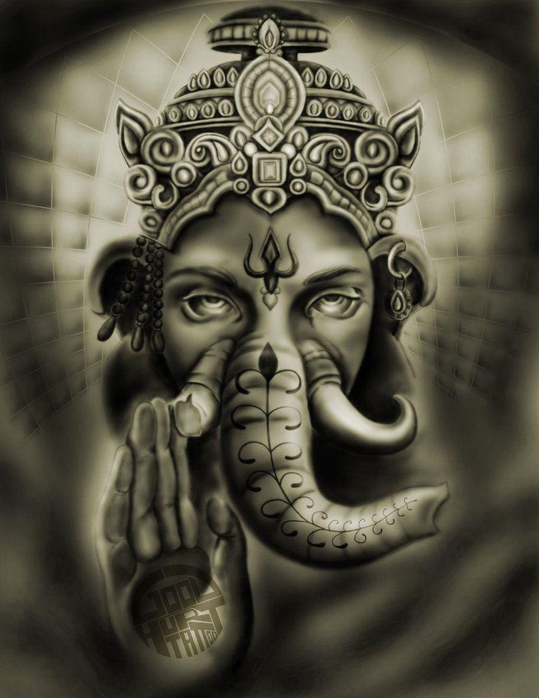 Tattoo Elefante E Lord Ganesha Tatuagem De Shiva Desenho De Tatuagem De Elefante Tatuagem Elefante