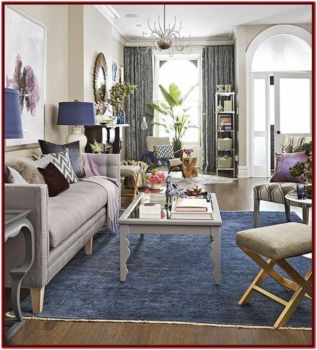 Blue Carpet Living Room Decorating Ideas by William ...