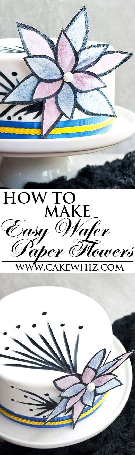 Learn How To Make This Easy And Pretty Wafer Paper Flower In About
