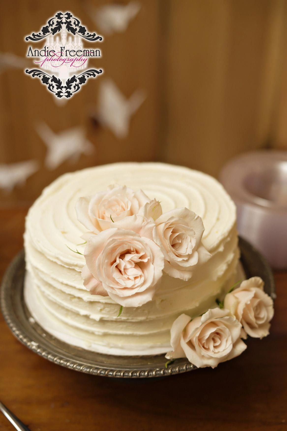Country Barn Wedding Vintage Cake With Roses And Ruffled Icing Photography Www Theathenswedding Simple Wedding Cake Cheap Wedding Cakes Fondant Wedding Cakes