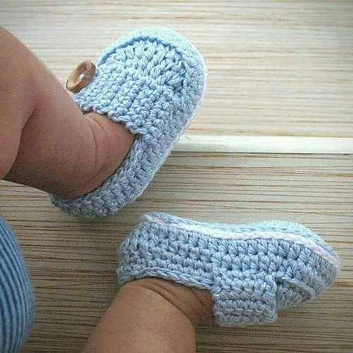 Mocasines 1a | for babie\'s | Pinterest | Babywäsche, Socken häkeln ...