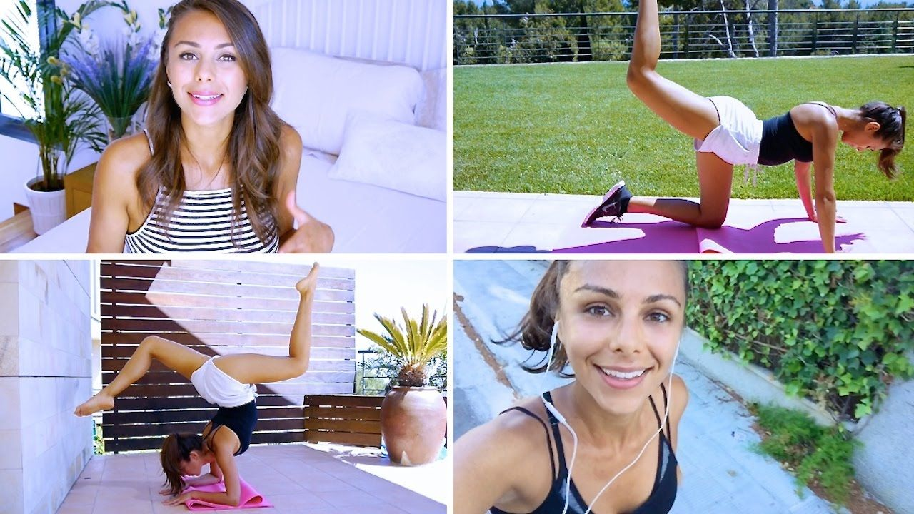 WORKOUT WITH ME ♥ (Cardio, Abs, Legs, Butt & Yoga) | Annie Jaffrey