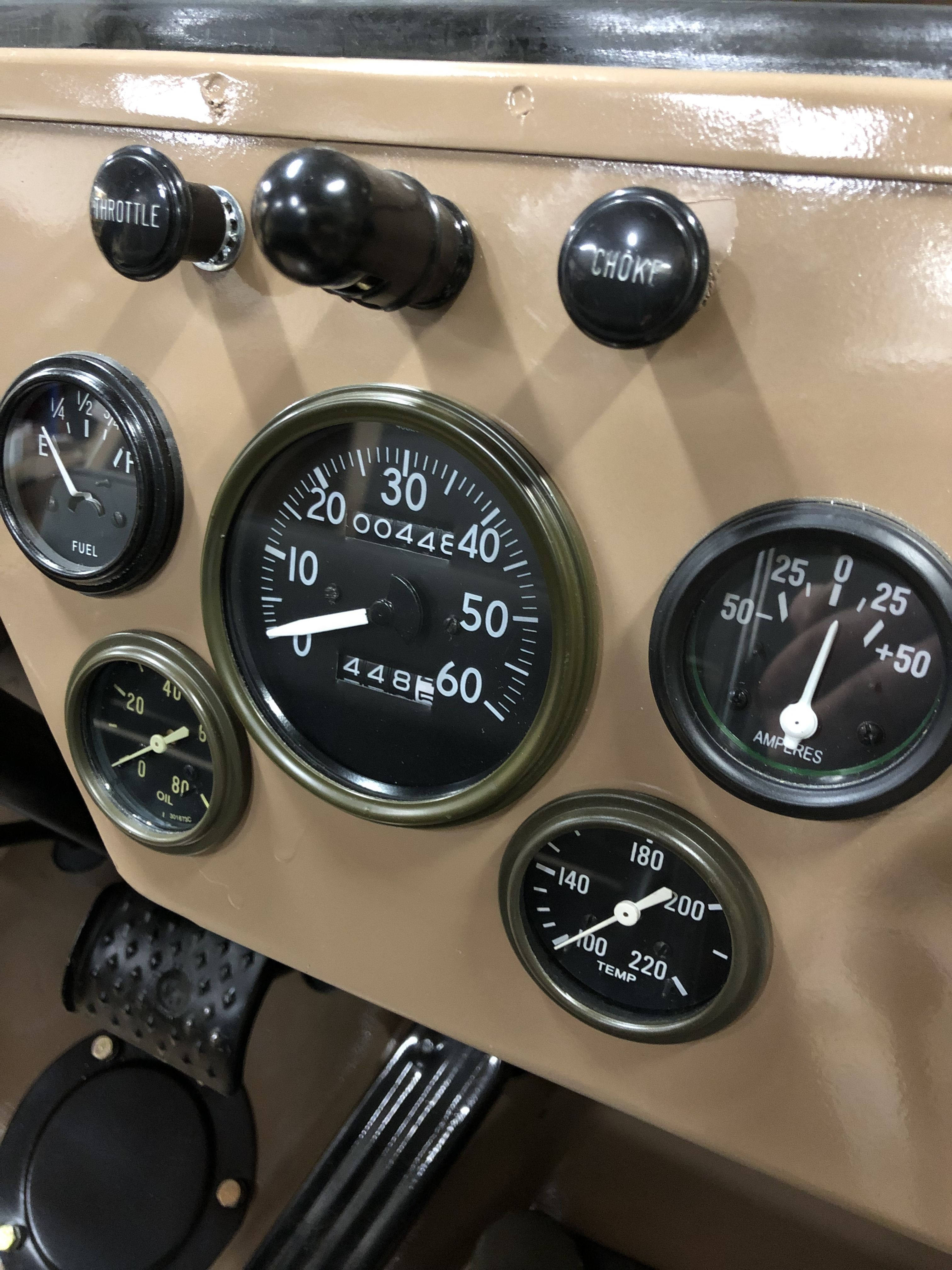 Willys Jeep Instrument Cluster Cj2a Gauges Willys Jeep Vintage
