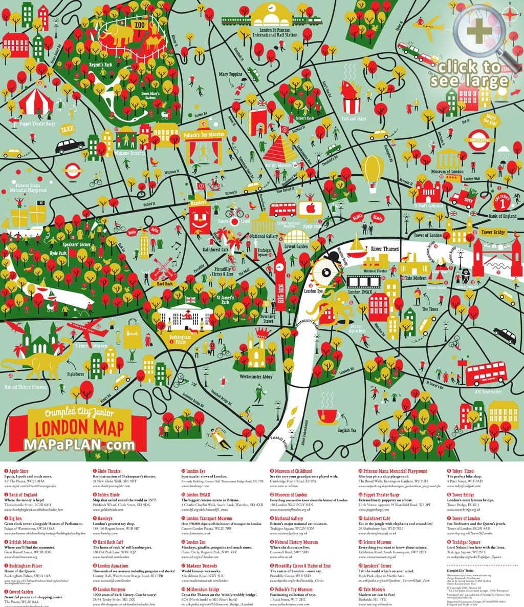 London Free Map.London Top Tourist Attractions Map Great Family Things To Do With