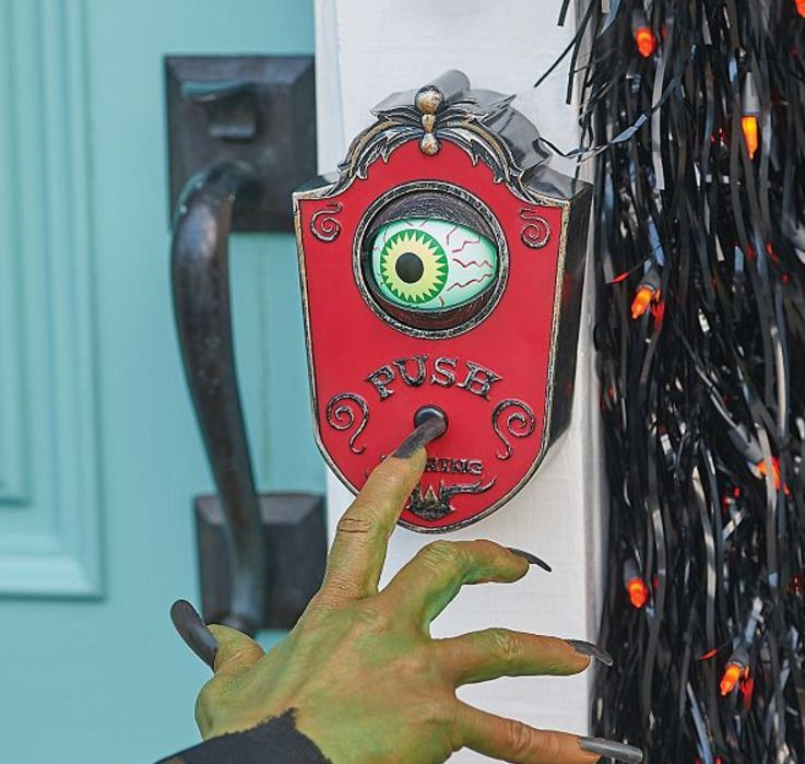 Pin by rev Sil on Halloween Witch Pinterest Haunted houses - scary door decorations for halloween