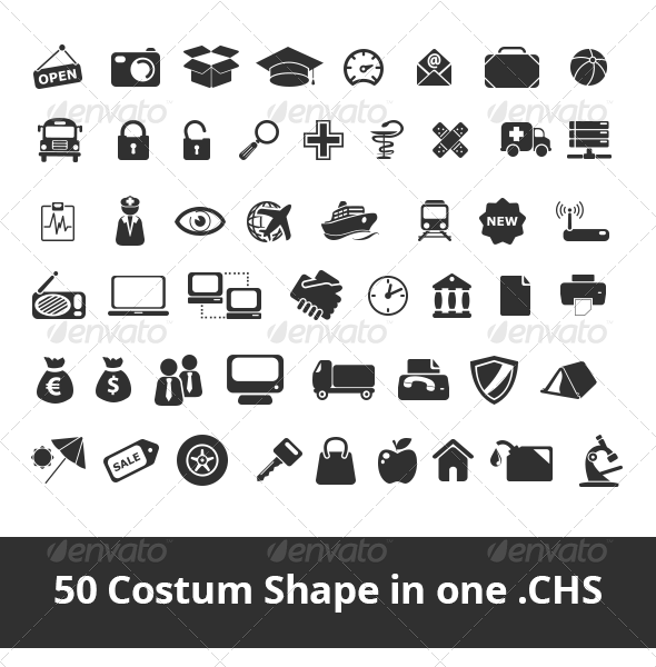 50 costum shape