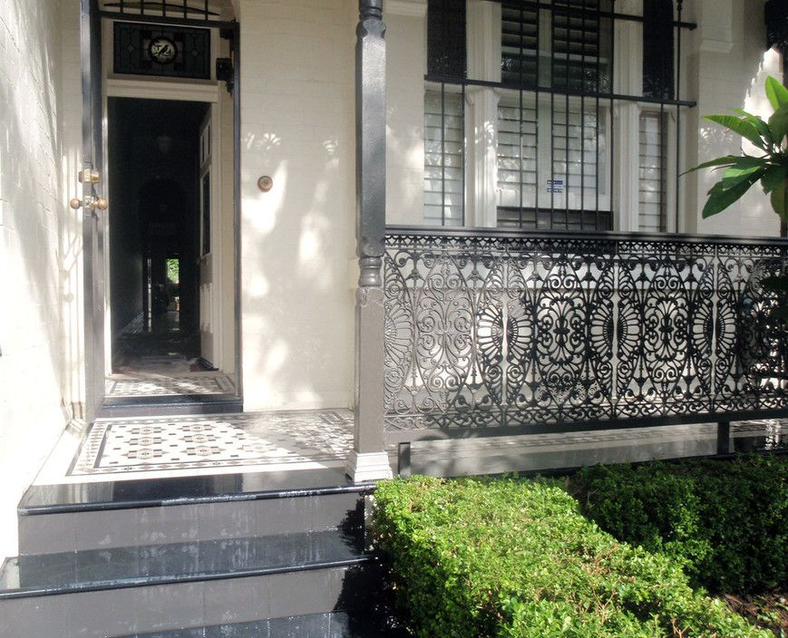 Contemporary Tessellated Tiled Footpath And Verandah With Bullnose Slate  Edge And Stairs. Front VerandahExterior TilesFront ...