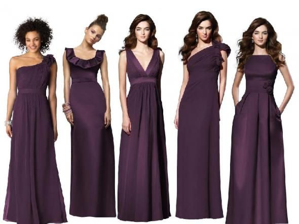 View Aubergine Color Dress Background